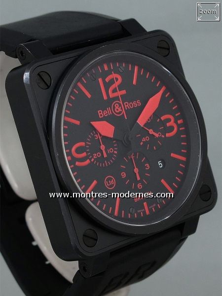 Bell&Ross BR 01-94-S Chrono Red Limited Edition 500ex. - Image 4