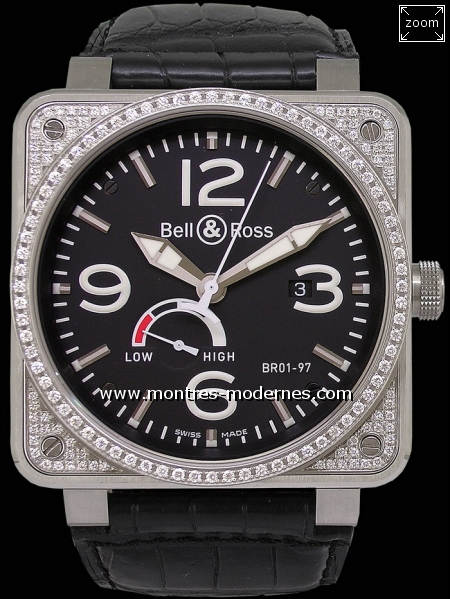 Bell&Ross BR 01-97 Power Reserve Diamants - Image 1