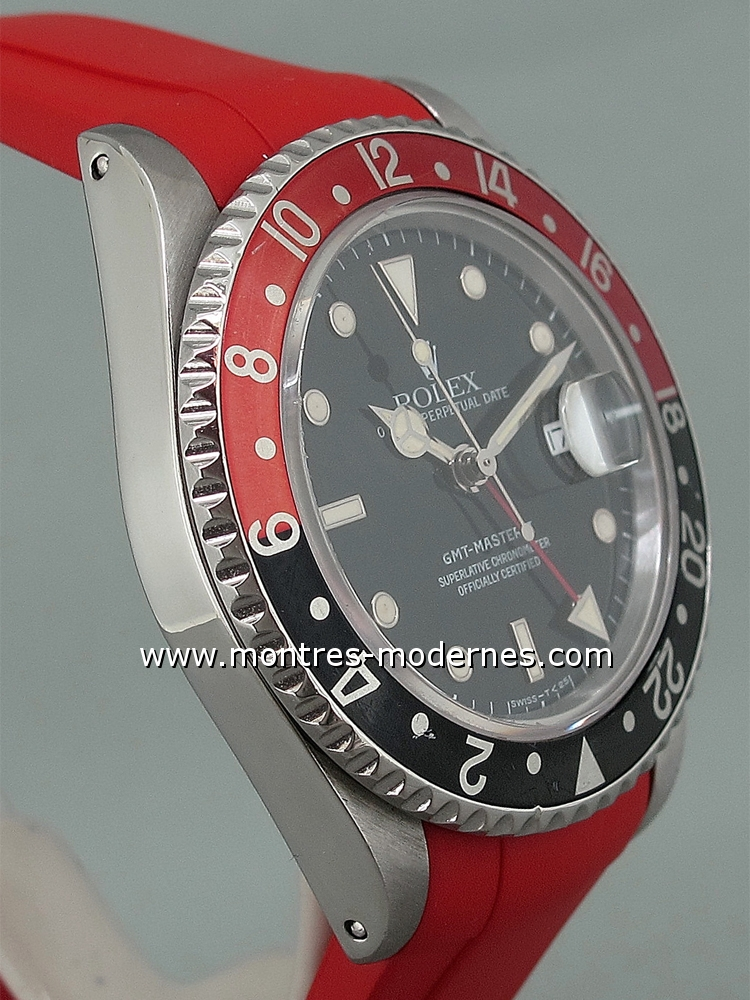 Rolex Gmt Master Ii R 233 F 16710 Bracelet Rubber B Occasion